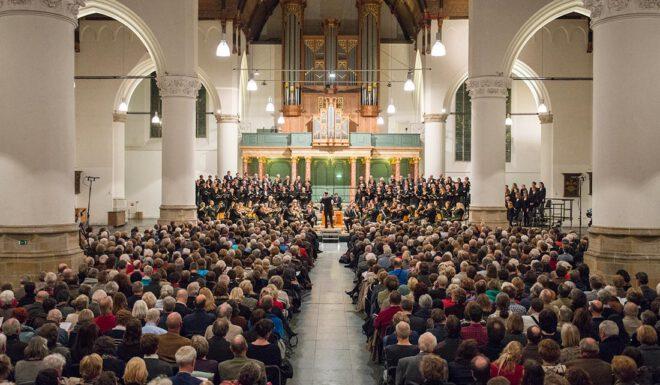 zangkoor in grote kerk